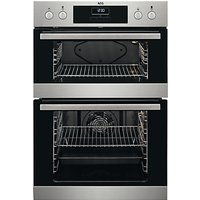 AEG DEB331010M Built-In Multifunction Double Oven, Stainless Steel