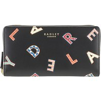 Radley Letters Leather Large Matinee Purse, Black
