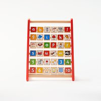 John Lewis & Partners Wooden Alphabet Abacus