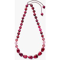 Lola Rose En-Ni Tiger's Eye Necklace, Burgundy/Fuchsia