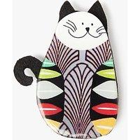 One Button Cat Brooch, Multi