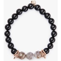 Lola Rose Agnes Agate Beaded Bracelet, Black/Coffee