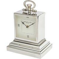 Libra Latham Square Mantel Clock, Silver