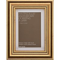 John Lewis Wilde Frame with Mount 4 x 6 (10 x 15cm), Gold