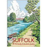 Kelly Hall - Suffolk River Unframed Print with Mount, 30 x 40cm
