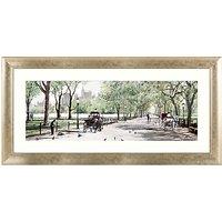 Richard Macneil - Peaceful Stroll Central Park Framed Print, 62 x 128cm