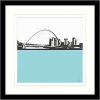 Jacky Al-Samarraie - Millennium Bridge Framed Print, 54 x 54cm