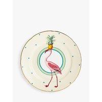 Yvonne Ellen Pineapple Flamingo Cake Plate, Multi, Dia.16cm