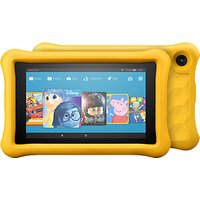 Amazon Fire 7 Kids Edition Tablet with Kid-Proof Case, Quad-core, Fire OS, Wi-Fi, 16GB, 7