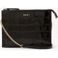 DKNY Sutton Croc Effect Leather Zip Cross Body Bag