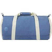 Mi-pac Canvas Duffle Bag, Blue/Cream