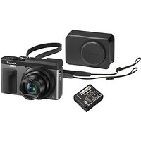 Panasonic Lumix DC-TZ93 Super Zoom Digital Camera, 4K Ultra HD, 20.3MP, 30x Optical Zoom, Wi-Fi, EVF, 3 LCD Tiltable Touch Screen, Silver, with Case & Additional Battery Kit