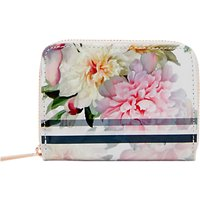 Ted Baker Joan Painted Posie Mini Leather Coin Purse, Baby Pink