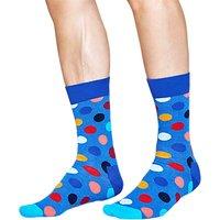 Happy Socks Big Dot Socks, One Size, Blue Melange