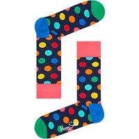 Happy Socks Big Dot Socks, One Size, Navy