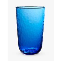 John Lewis Fusion Hammered Highball Glass, Blue, 520ml