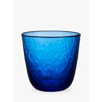 John Lewis Fusion Hammered Tumbler Glass, Blue, 280ml