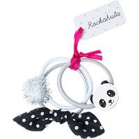 Rockahula Childrens Panda Hair Ponies, Pack of 3, Silver/White