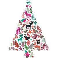 Museums and Galleries Christmas Tree Charity Christmas Cards, Pack of 8