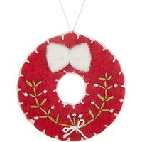 John Lewis Folklore Felt Wreath Tree Decoration