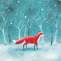 Museums and Galleries Fox Charity Christmas Cards, Pack of 8