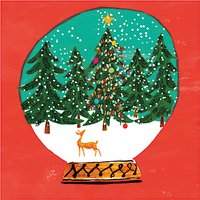 Museums and Galleries Forest Snowglobe Charity Christmas Cards, Pack of 8