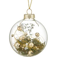 John Lewis Into the Woods Clear Moss Filled Bauble