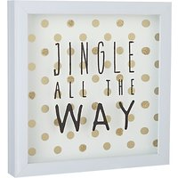 John Lewis Winter Palace Jingle all the Way Christmas Sign