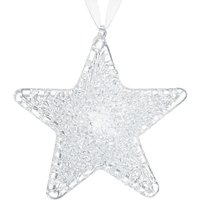 John Lewis Winter Palace Glass Star Tree Decorations, Box of 3