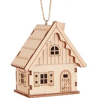 John Lewis Folklore Wooden Cabin Tree Decoration