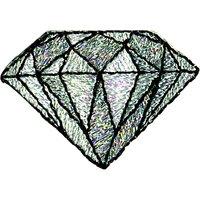 La Stephanoise Diamond Iron On Patch, Silver