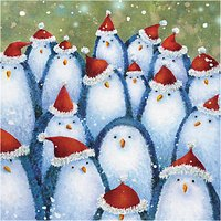 The Almanac Gallery Penguin Hats Charity Christmas Cards, Pack of 8