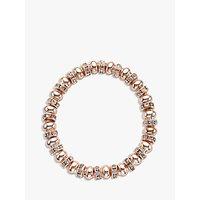John Lewis & Partners Glass Pave Bead Stretch Bracelet, Rose Gold