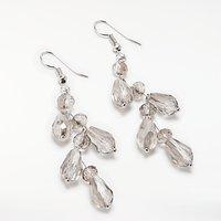 John Lewis Crystal Chandelier Drop Earrings, Silver/Clear