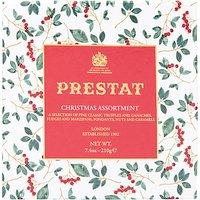 Prestat Christmas Holly Assorted Chocolates Box, 210g
