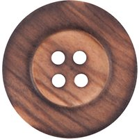 Groves Wooden Button, 25mm, Pack of 2
