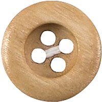 Groves Rimmed Wooden Button, 15mm, Pack of 5