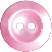 Groves Rimmed Button, 16mm, Pack of 5, Pink
