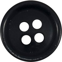 Groves Rimmed Button, 14mm, Pack of 6, Dark Blue