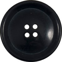 Groves Rimmed Button, 25mm, Pack of 3, Navy Blue
