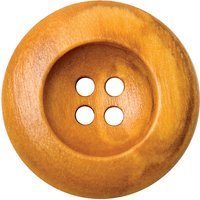 Groves Rimmed Wooden Button, 25mm, Pack of 2