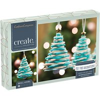 Crafters Companion Create Your Own Felt Christmas Tree Decorations, Pack of 3