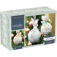 Crafters Companion Make Your Own Fabric Baubles Craft Kit, Pack of 3