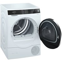 Siemens WT7UH640GB Freestanding Heat Pump Condenser Tumble Dryer, 8kg Load, A+++ Energy Rating, White