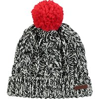 Barts Neak Beanie, One Size, Black/Red