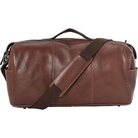 John Lewis Gladstone 2.0 Leather Barrel Bag, Brown