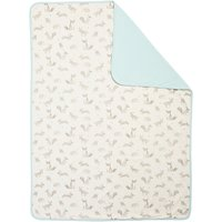 John Lewis & Partners Baby Forest Friends Swaddle Blanket, Blue