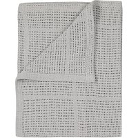 John Lewis & Partners Baby Pram Cellular Blanket, Grey