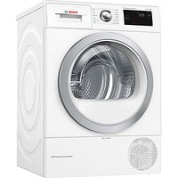 Bosch WTW87660GB Condenser Tumble Dryer with Heat Pump, 8kg Load, A+++ Energy Rating, White