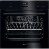 AEG BPE552220B Built-In Single Multifunction SteamBake Electric Oven, Black